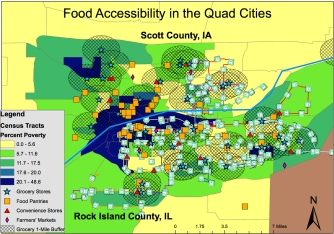 Food Accessibility Map of the Quad Cities